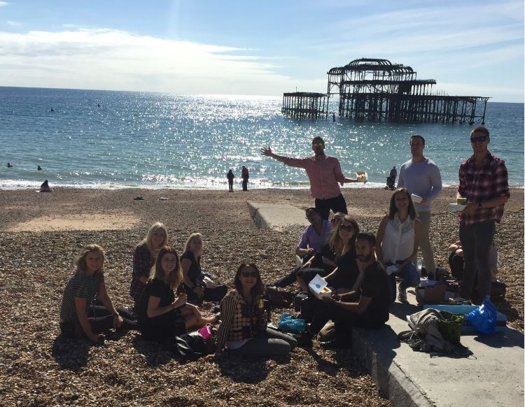 Fish & Chips on the beach at our Away day in Brighton